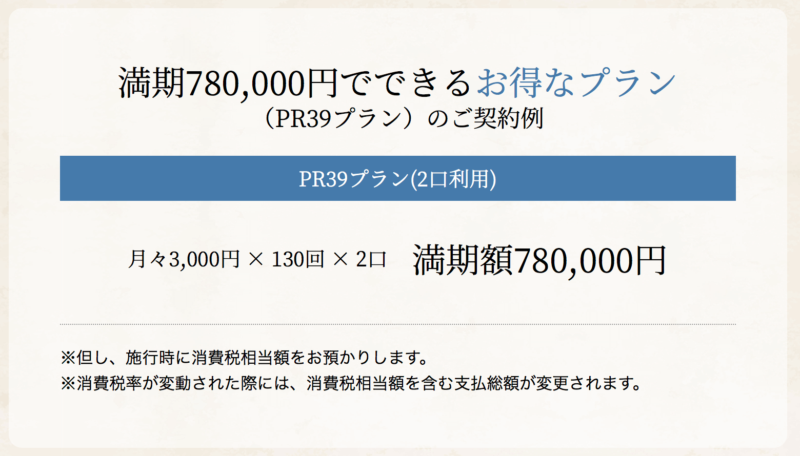 PR39プラン×2